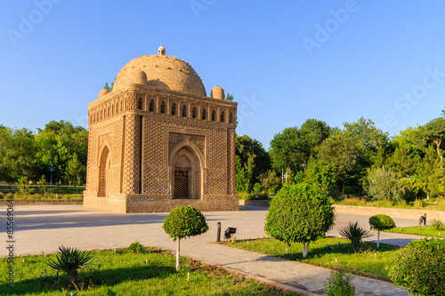 Fotografia The Samanid mausoleum in the Park, Bukhara, Uzbekistan