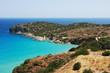 Sea view with rocks and lagoon. Crete, Greece