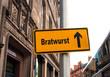 Strassenschild 44 - Bratwurst