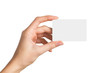 canvas print picture - Hand holding blank business card