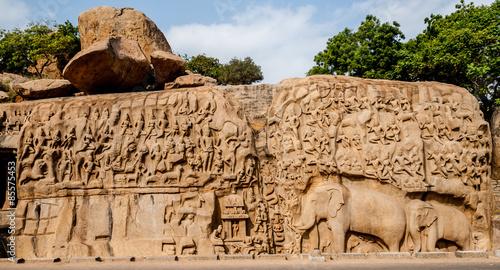 Fotografie, Obraz  Arjuna's Penance, Mahabalipuram