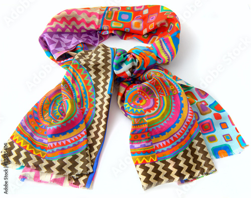 Fotografie, Obraz  Fashionable female scarf isolated on white