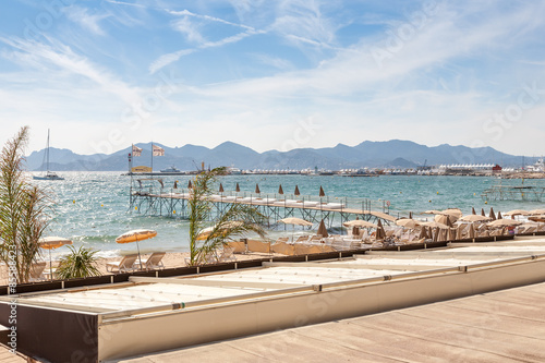 France, French riviera. Cannes. Beach Wallpaper Mural