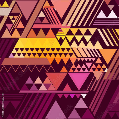 Fotografie, Obraz Triangle geometric abstract background