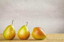 Bi-coloured Forelle Pears With Rustic Country Feel Processing.