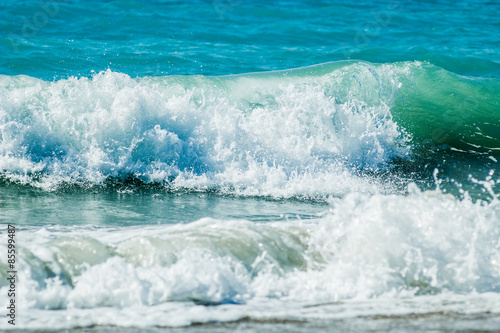 Deurstickers Water Colorful sea wave
