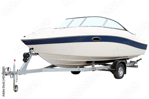 Modern motor boat