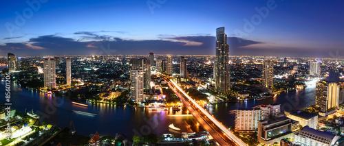Photo Stands Bangkok Bangkok skyline cityscape in Thailand.