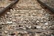 close up railway tracks