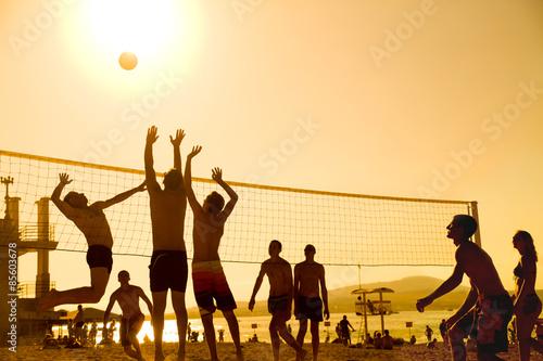 obraz PCV siatkówka na plaży