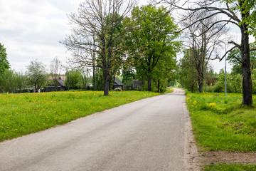 Fototapeta na wymiar empty road in the countryside