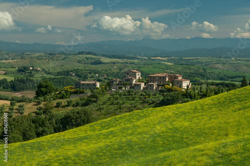 Foto auf Gartenposter Reisfelder Toskana