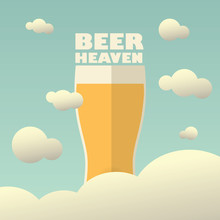 Beer Heaven Poster With Large ...
