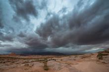 Rain Storm Over The Desert Uta...
