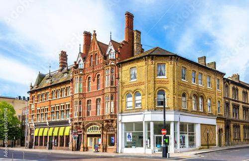 Obraz na plátně Houses in the city centre of Southampton, England
