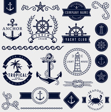 Sea And Nautical Design Elemen...