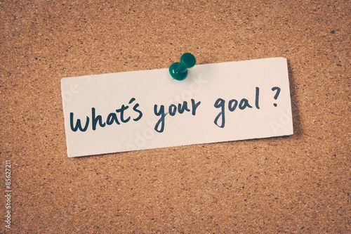 Photo  What's your goal