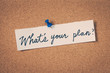 canvas print picture - What's your plan