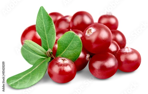 Fotografia  Cranberry, Vitamin Pill, Leaf.
