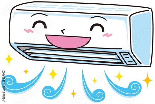 Foto  笑顔のエアコン
