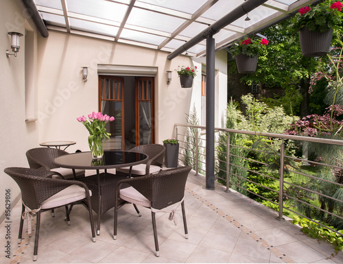 Fotografie, Obraz  Cozy balcony