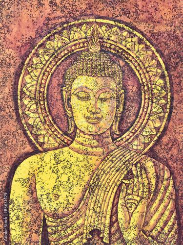 Fototapeta  Buddha malba akrylem