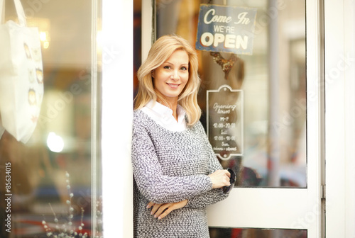 Fotografering  Clothing store owner businesswoman