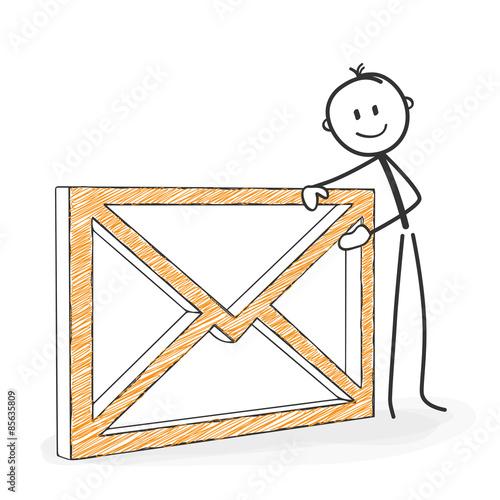 Strichmännchen mit Briefumschlag - Brief, Symbol, Männchen, E-Mail ...