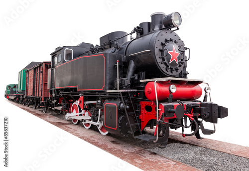 Carta da parati vintage,big, steam train