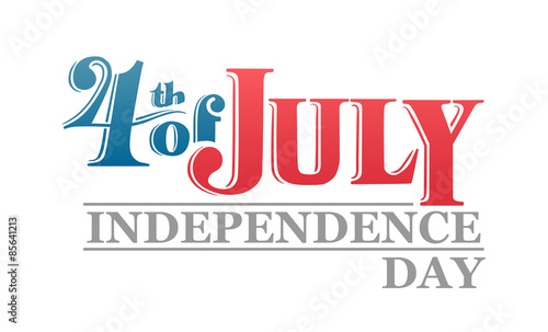 Fotografia  Independence day greeting vector