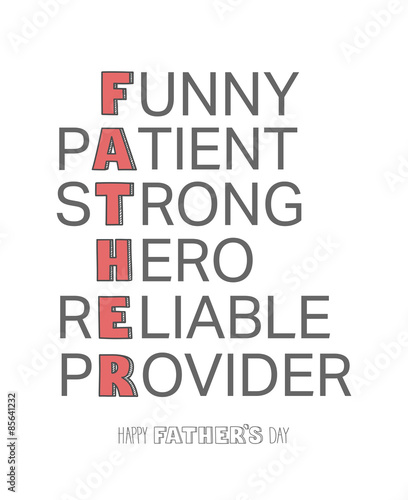 Fathers day greeting vector Wallpaper Mural
