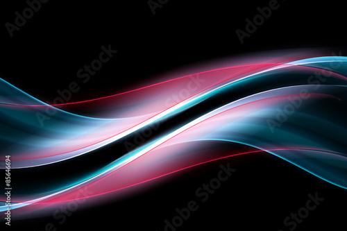 Elegant Modern Light Abstract Waves Background Billede på lærred