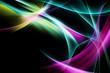 Elegant Fractal Light Abstract Background