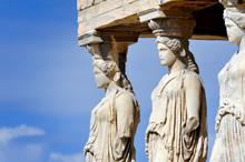 Caryatides At Acropolis