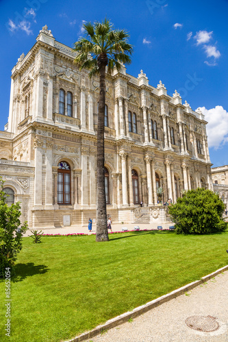 Istanbul, Turkey. Scenic fragment of the facade of Dolmabahce Palace