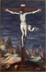 Plakat Granada - crucifixion paint from in Monasterio de la Cartuja
