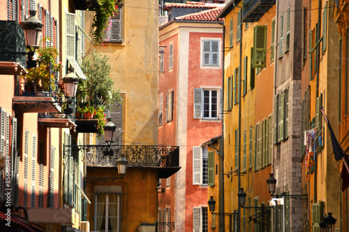 Poster de jardin Nice Old town architecture of Nice on French Riviera