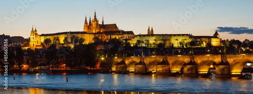 Poster Prague Prague Castle sunset panoramic