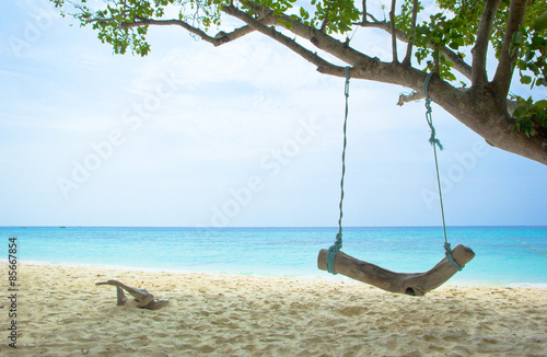 Fototapeta tropical  beach at koh rok, Krabi, Thailand obraz