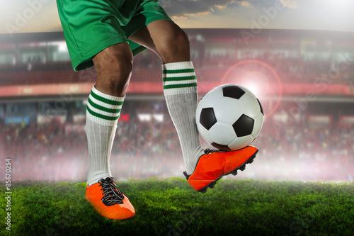 soccer football in stadium