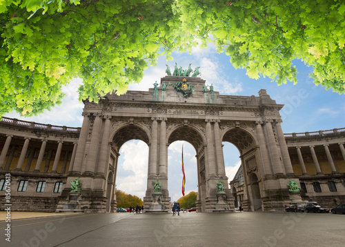 Poster Brussel The Triumphal Arch in Brussels