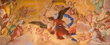 Granada - Angles Fresco In In Church Monasterio De La Cartuja