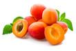 Aprikosen auf einen Untergrund