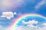 Fototapeta Rainbow - Beautiful sky with rainbow.