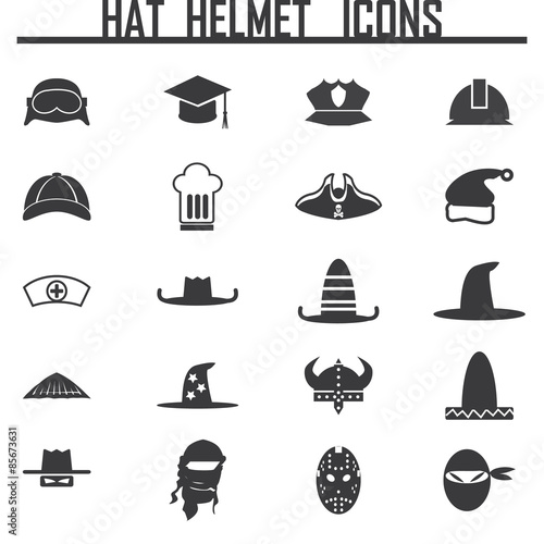 Photo Icons set hats