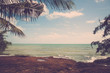 Natural tropical coast line and sea view. Vintage filter.