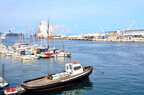 Fotografering  the port of Savona, Italy