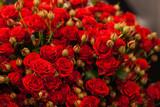 Piękny bukiet z czerwonych róż