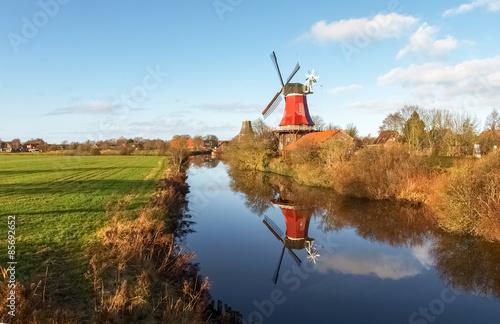 Fotobehang Molens Greetsiel, traditional Windmill