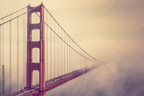 Golden Gate Into the Fog - 85695619